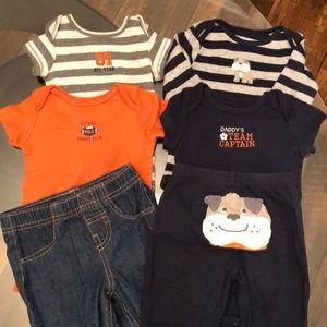 6 Piece Carter's Sports Bundle 9 Month Boy